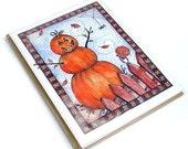 Festive Halloween Jack-O-Lantern Cards - 5 Pack
