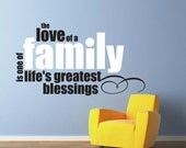 Vinyl Wall Decal Sticker Art - The Love of a Family - Large