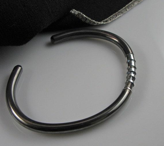 Silver Cuff Bracelet Mens - RESERVED for Julie