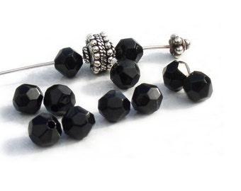 Swarovski Crystal Beads Black Vintage 5023 6mm beads