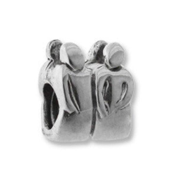 Gemini Zodiac European Bead Sterling Silver BSZL-06 Carlo Biagi