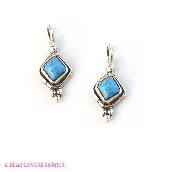 Turquoise Jewelry Drop 16mm, qty 2