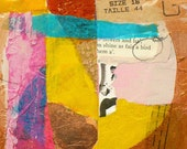 Originial Mixed Media Collage As Fair a Bird