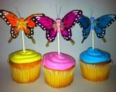 Cupcake Toppers Butterflies (12)