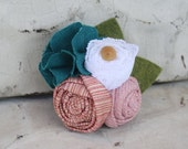fabric flower cluster