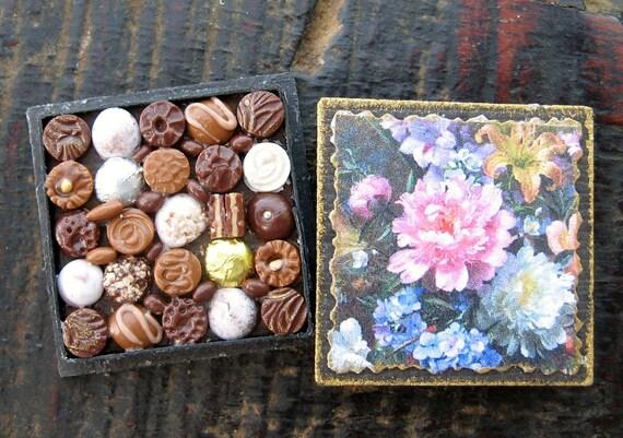 Miniature Box of Chocolates - 1:12th Scale