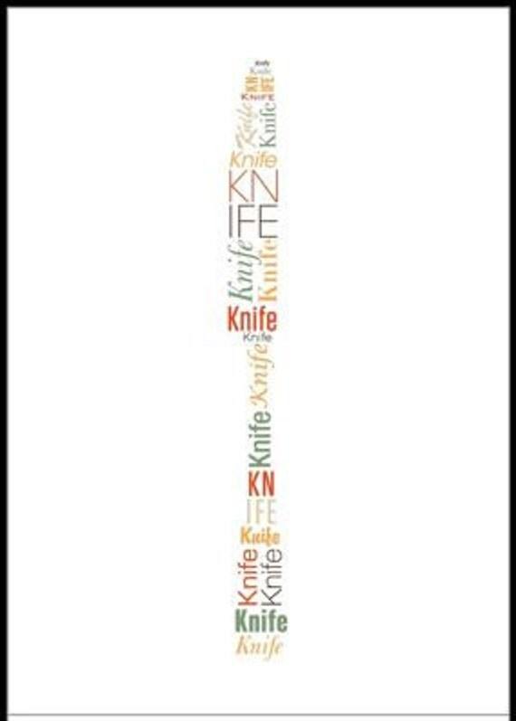 Knife Word Art Print 8x10