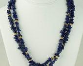 Lapis & Gold Necklace