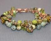 SALE Bracelet Copper Green - Absinthe
