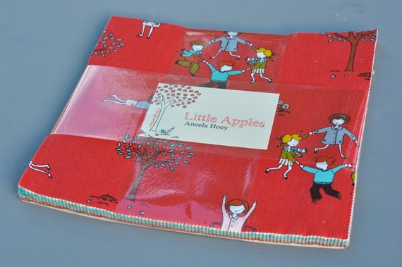 Moda Little Apples by Aneela Hoey 10 inch Square 'Layer Cake'