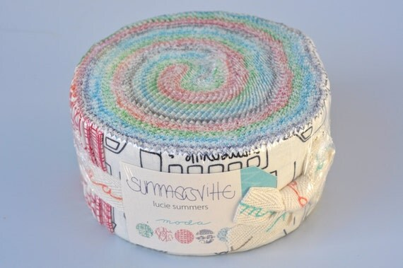 "Moda Summersville by Lucie Summers 2.5"" Strip Quilting Jelly Roll"