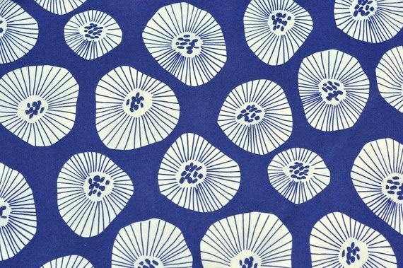 LAST Windham Fabrics Lotta Jansdotter Echo Moira Scattered Blooms on Indigo Fat Quarter