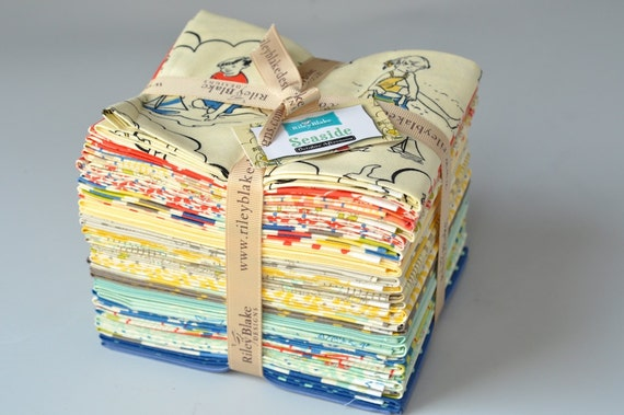 Seaside Fabric 24 Fat Quarter Bundle from October Afternoon for Riley Blake COMPLETE