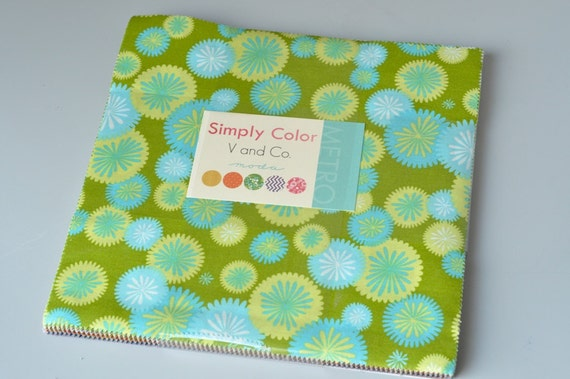 "Moda Vanessa Christenson 'Simply Color' 42 Piece 10"" Quilting Fabric Layer Cake"