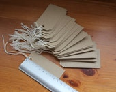 25 Brown paper tags - eco friendly tags - blank  empty labels - wedding tags