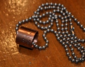 Men's Hand-Stamped Copper Morse Code Necklace