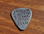 Hand-Stamped Guitar Pick