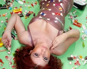 Latex Rubber Sweets / Candy Applique Dress