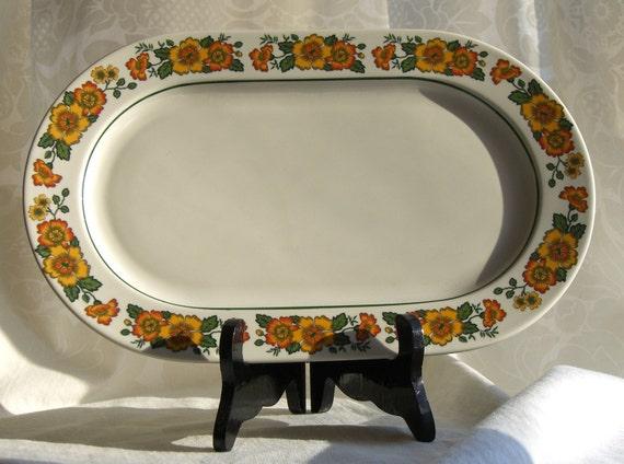 sale vintage oval platter by villeroy and boch cottage pattern. Black Bedroom Furniture Sets. Home Design Ideas