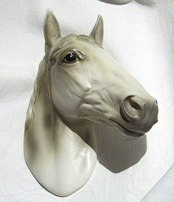 Vintage Leftons Ceramic Horse Head Wall Plaque