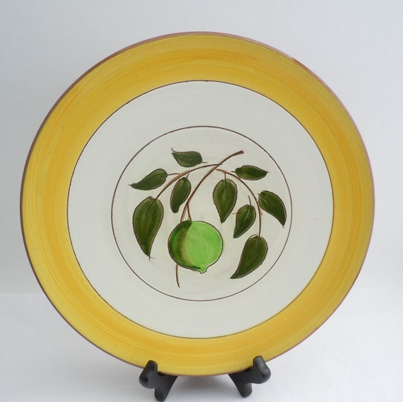 Stangl Pottery Plate Modernist Lime Pattern