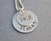 Marathon Runner Hand Stamped Necklace by TheCopperFox