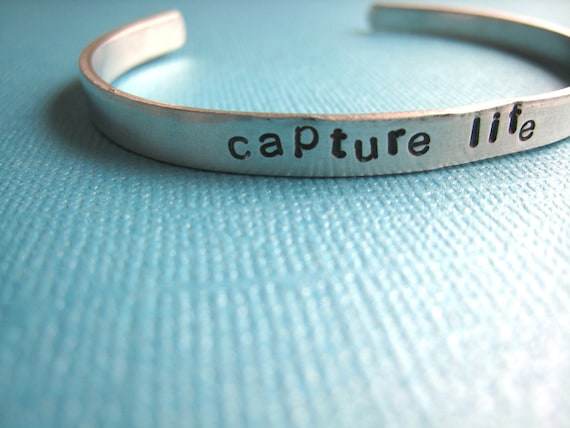 Cuff Bracelet Capture Life Personalized Custom Bracelet by TheCopperFox