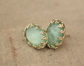 Mint gold plated  post earrings