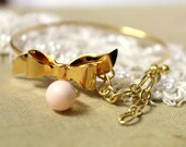 Bracelet Gold plated bracelet Classic  - gold plated bracelet with real Majorica  pearl