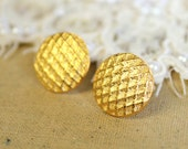 Gold classic post earrings plated 14k Gold