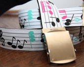 Funky, Cool, Artsy, Music Notes Belt