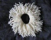 Sea anemone scrunchie off white, cream, ivory
