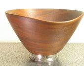 RESERVED mid century teak salad bowl RESERVED