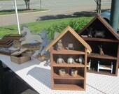 Eco Friendly Reclaimed Wood Shelf - Rustic Wood House Style Shelf
