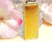 Orange Pendant, Fused Glass Jewelry, Dichroic Pendant, Fused Dichroic Glass, Fall Autumn, Tangerine -- Swirled in Gold (Item 10337-P)