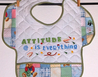ATTITUDE IS EVERYTHING,  Bib with Attitude for Toddler