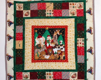 Party With Santa, Child's Christmas Quilt