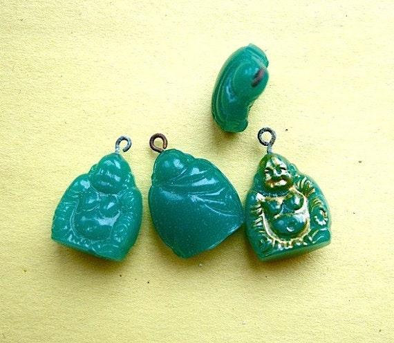 BWB (1) Petit Charming Vintage Fat Laughing Buddha Pendant Dangle - Lucky charm