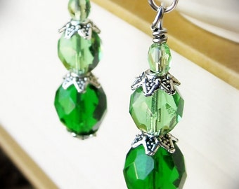 Decadent Drop Earrings, Mint Julep