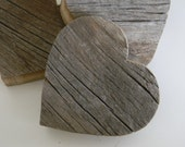 Recycled barn wood hearts - Set of three