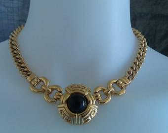 Authentic Vintage Givenchy 1980's Gold Chain Statement Necklace  FREE SHIPPING