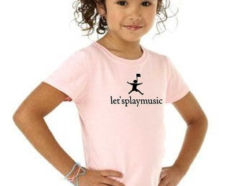 Let'splaymusic girly fitted tshirt