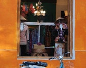 Colonia del Sacramento - through the window of a vintage clothing shop