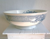 Antique Brown-Westhead Moore & Co. Wash Basin Huge Victorian Transferware Blue White