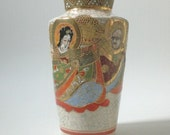 Vintage Japanese Satsuma Vase Signed RESERVED