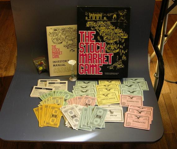 Stock Market Board Game Vintage 1970