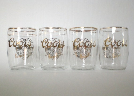 Vintage 4 Coors Beer Glasses Colorado Centennial