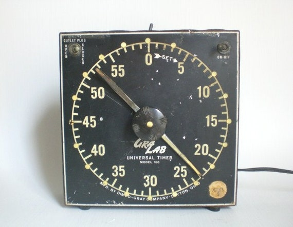 Vintage GraLab Darkroom Timer Industrial Electric