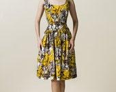 Yellow Cotton  Low Waist Dress (Size XS, S, M)