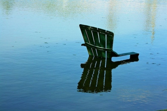 Underwater Chair Fine Art Photography Print Water Spring Rustic Surreal Wall Art Home Decor 4x6